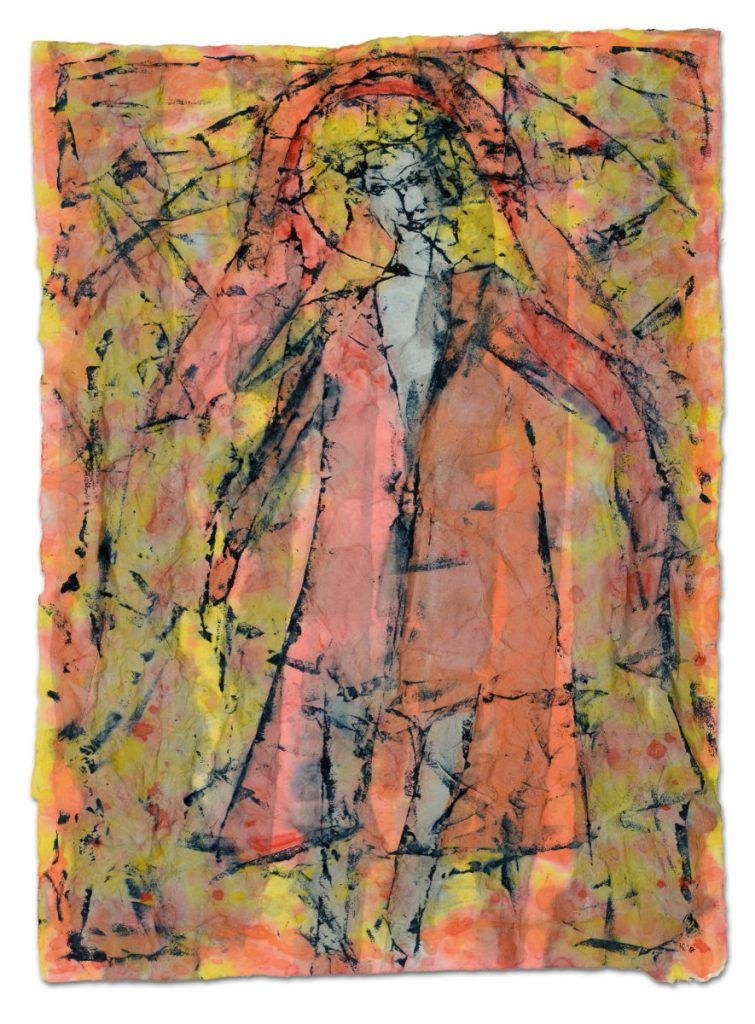 Frau im Mantel